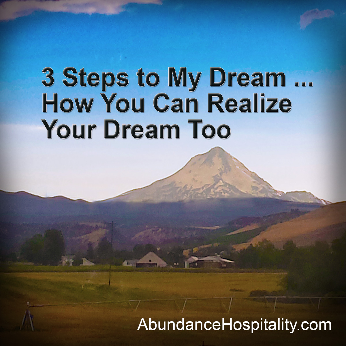 How to realize a dream 37